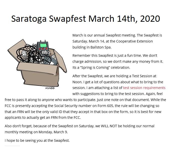 Saratoga march 2020